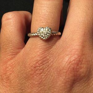 David Yurman heart ring